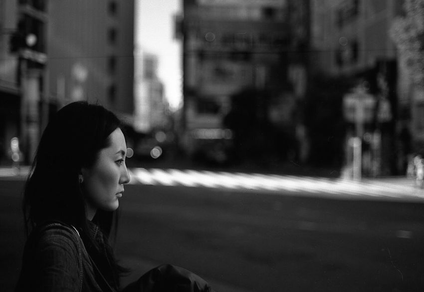 Woman Woman Portrait Shibuya Street Streetphotography People Tokyo Street Photography Blackandwhite Film Film Photography Filmisnotdead 35mm Film Tokyo Street Life Bokeh Dreaming From My Point Of View Black And White Photography Japan Monochrome Light And Shadow Black & White Blackandwhite Photography
