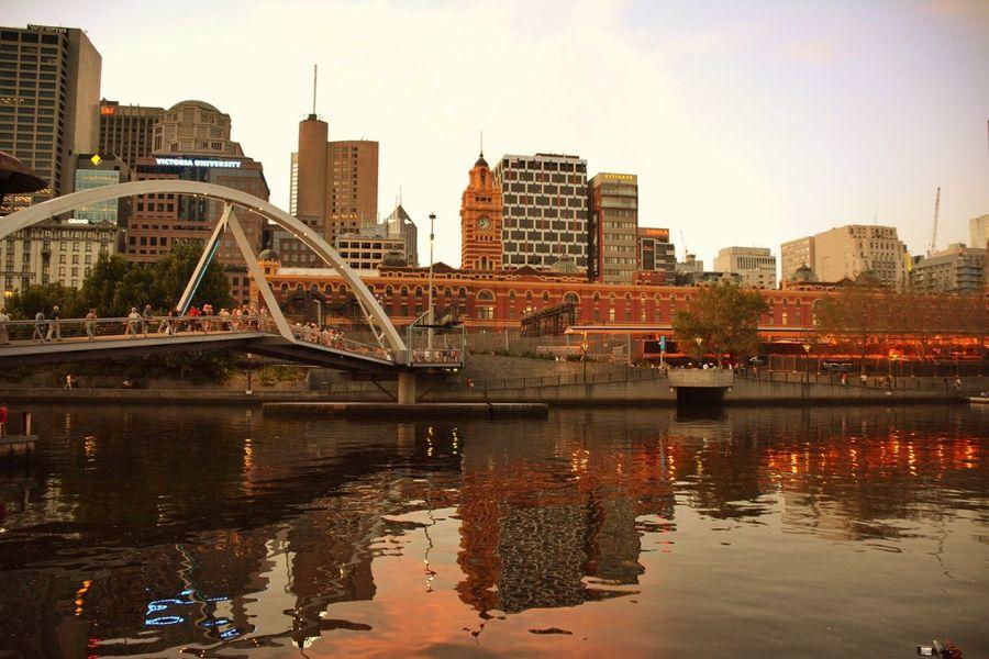 Melbourne Landscape Photography Nikon Reflection Bridge Sunset Yarra River