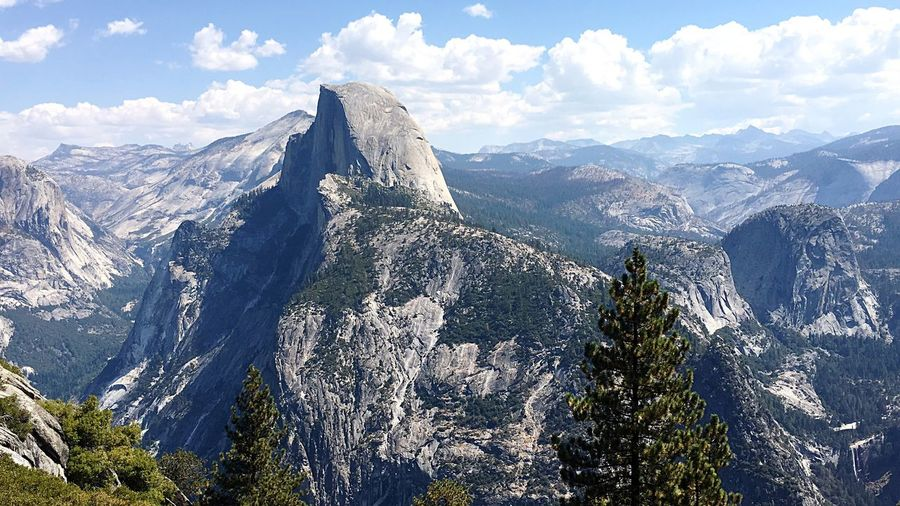 Scenic View Of Mountains At Yosemite National Park Against Sky