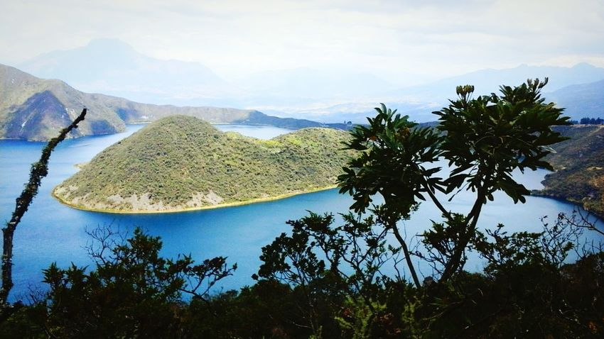 Tree Tranquil Scene Mountain Range Beauty In Nature Lake Water Mountain Photographic Memory Beauty View Cuicocha_lake Cuicocha Ecuadorpotenciaturistica Tranquility Nature Beauty In Nature Capture The Moment Tranquility