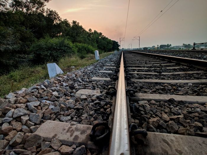 EyeEm Selects Railroad Track Outdoors No People Day Nature Sky Tree