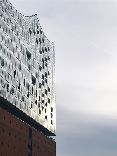 Architecture Building Exterior Built Structure Sky Low Angle View Modern No People Day Outdoors Cloud - Sky Skyscraper City Nature Elbphilharmonie Hamburg Travel Tourism
