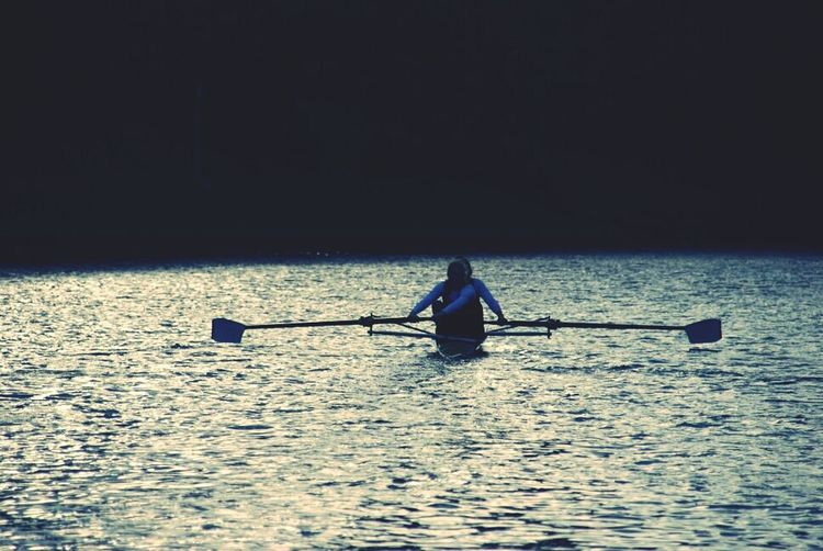 The moment you give up is the moment you let someone else win! Rowing Water Sun_collection