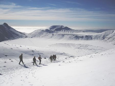 Expedition Onedaytrip Snow Montainscape Nowhere Tongariro Crossing New Zealand Hello World
