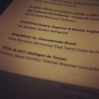 I SEMEXI Petletras Ufu Brasileirarte