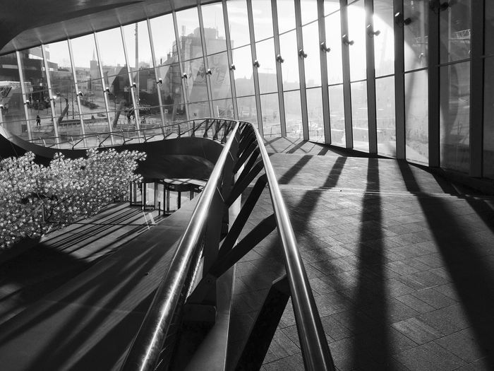 A section of the spectacular Arnhem Central Station, opened in 2015. Architecture Arnhem Arnhem CS Sunlight Architecture Blackandwhite Railing Railway Station