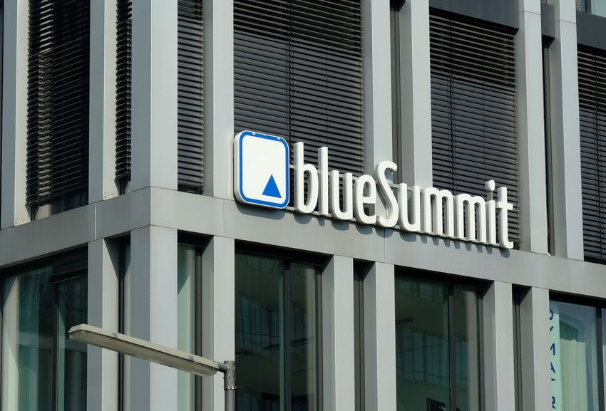 Munich, Germany - August 17, 2017: Blue Summit company logo. Blue Summit Media GmbH is an agency for international performance online marketing Advertising Communications E-commerce Marketing Online Advertisement Advisory Affiliate Agency Building Exterior Communication Customers E Commerce Ecommerce Interface Loyalty Marketing Marketingonline Mass Media No People Online  Online Marketing Optimization Outdoors Sea Seo