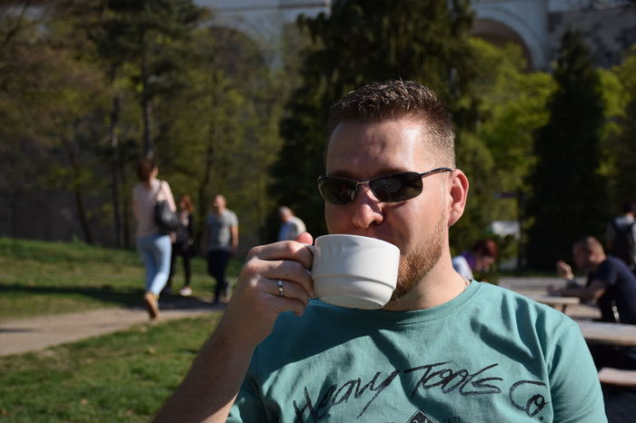 Cup Of Tea Cup Of Tea..  Drink Drink Tea Food And Drink Man Outdoors Portrait Tea Time