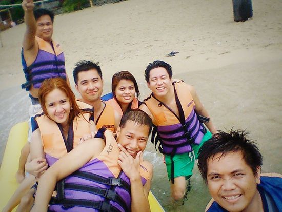 """ groufie B-) ,after the banana boat ride "" Fun Summer Batangas Laiya First Eyeem Photo"