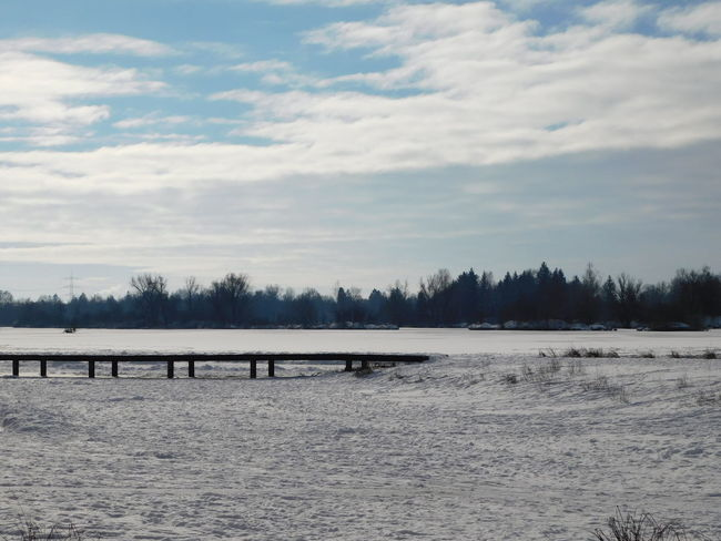 Nikon Nikon D5100  Winter Beauty In Nature Cloud - Sky Cold Temperature Day Landscape Nature No People Outdoors Scenics Sky Snow Tranquility Tree Weitmannsee Winter