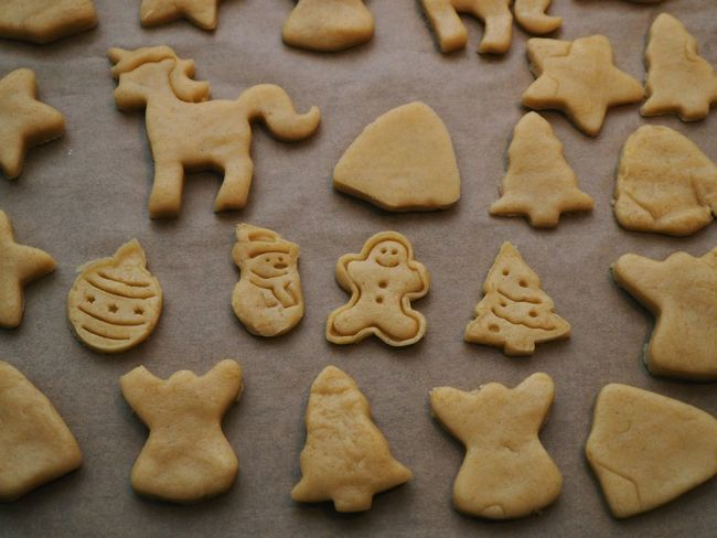 Cookie Baked Food And Drink Food Sweet Food Freshness Christmas Shape Still Life Indoors  Celebration Holiday No People High Angle View Indulgence Temptation Representation Close-up Preparation  Design Gingerbread Cookie Baking Sheet Snack