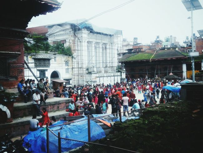 Large Group Of People Crowd Architecture People Outdoors Real People City Adults Only Adult Riot Sky Day Men Mobilephotography Built Structure Basantapur Durbar Square Nepal Nepaligirls