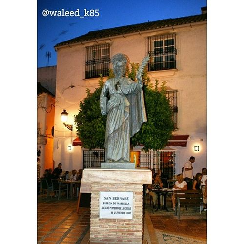 SanBernabe Statue At the PlazaDeLaIglesia near PlazaDeLosNaranjos at the OldTown MarbellaOldTown. marbella andalusía Spain españa. Taken by my sonyalpha dslr a200. Taken in my 2011 summer trip ماربيا اسبانيا البلد ساحة البرتقال.