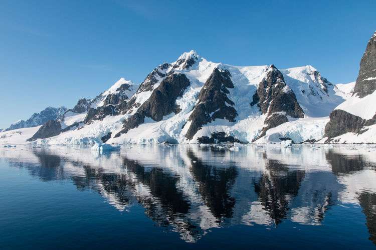 Antarctica Mountains And Sky Mountains Reflection Sailing