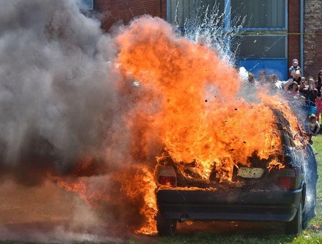 Car Fire Burning Car Close-up Destruction Flame Heat - Temperature Outdoors