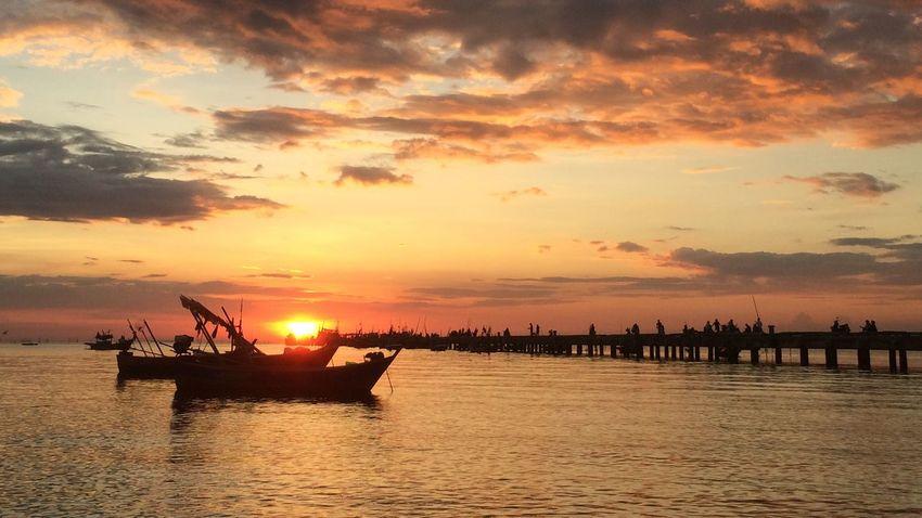 Sunset Boat Sea