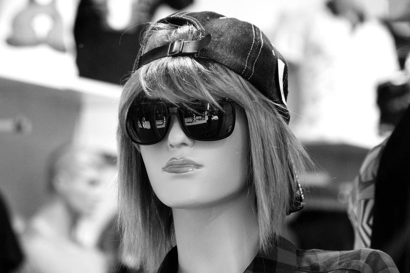 Mannequin in Sunglasses Sunglasses Mannequin Fashion Focus On Foreground Retail  Store Day Outdoors No People Close-up EyeEmNewHere. Mannequin Model Mannequin Wearing Sunglasses Sunglasses On Sunglasses Reflection Mannequin Head Bob Hairstyle Mannequin In Hat Mannequin Wearing Hat Shop Window Dummy Shop Window Shop Window Display.
