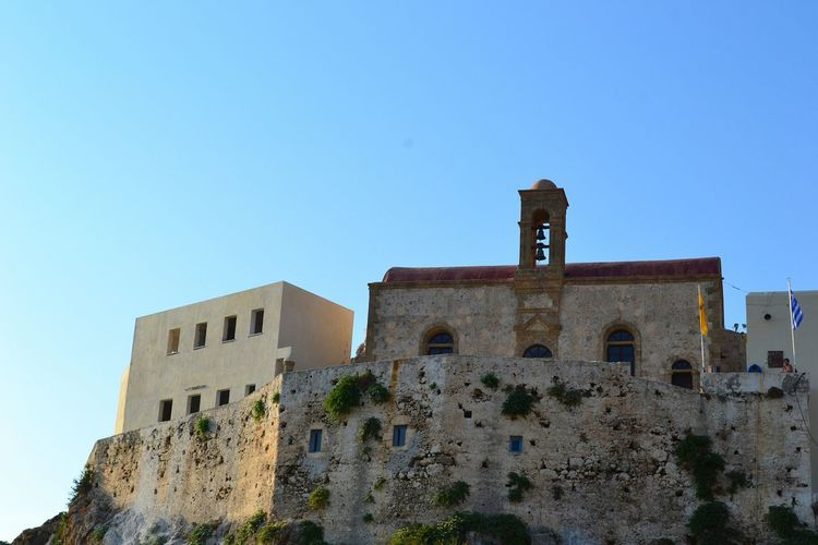 Greece's beauties Creta Crete Grecia Greece Belltower Bells Church Top Hill Walls Sky Greekarchitecture Architecture Showcase July