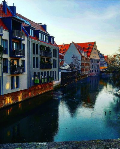 Nürnberg Architecture Building Exterior Built Structure Water House Reflection Residential Building Outdoors Sky No People Day Germany Almanya Deutschland River Göl