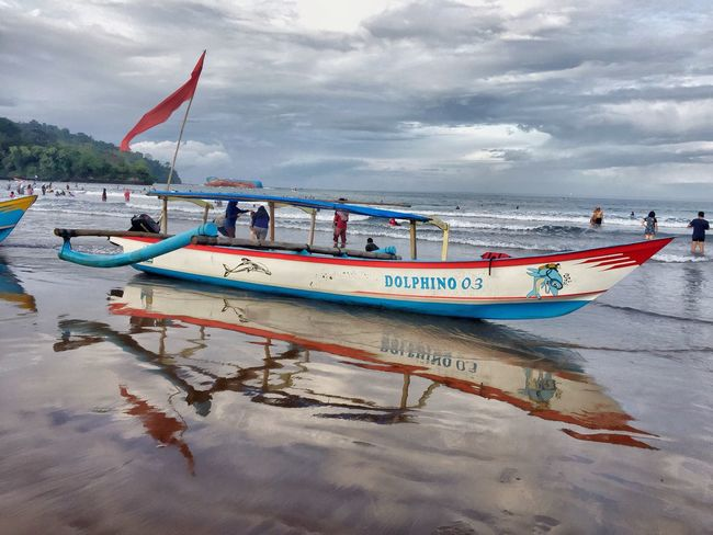 Stranded ship Nautical Vessel Water Sky Moored Mode Of Transport Transportation Nature Cloud - Sky Shore Sea Beach Outdoors No People Sand Day Beauty In Nature Pangandaran Beach Pangandaran Popular Popular Photo Popular Photos