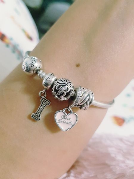 Each of them counts.. Pandora Charms Love Pandora Bracelet  Pandora Charms Pandora ❤ Bestfriend Charm Pet Charm Dog Lover Letter R Jwellery Silver  Silver Love
