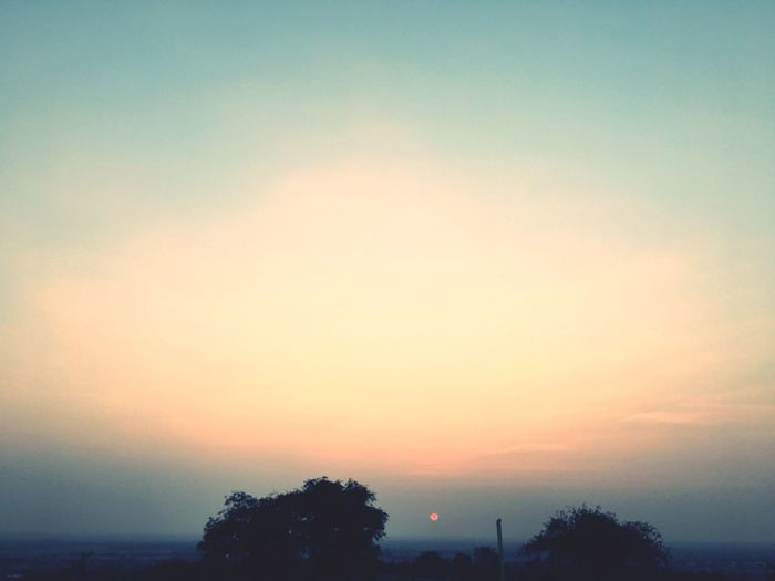 magical sky🌅 Sunset Scenics Sky Tranquil Scene Tranquility Silhouette Beauty In Nature Nature Tree No People Idyllic Outdoors Sun Landscape