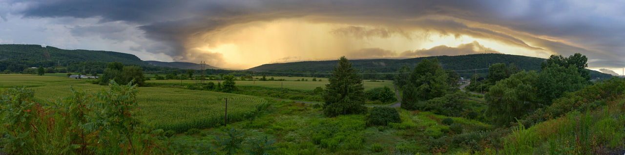 Summer thunderstorm in central NY. Nature Landscape Cloud - Sky Thunderstorm