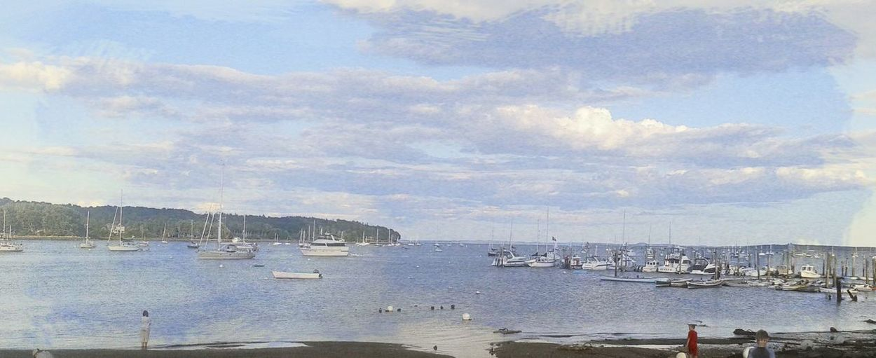 Beach Beauty Beauty In Nature Coast Coastal Life Day Maine Nature Nautical Vessel Outdoors Sky Transportation Water