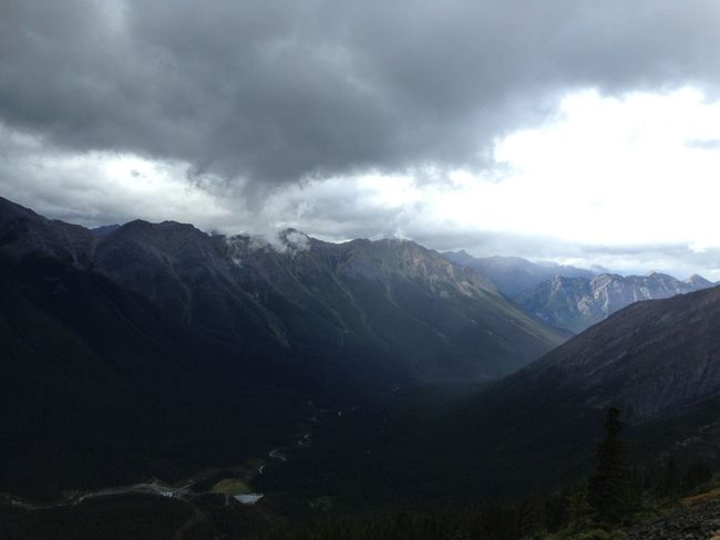 Storm getting closer Mountains On A Hike Canadian Rockies  Moutaineering