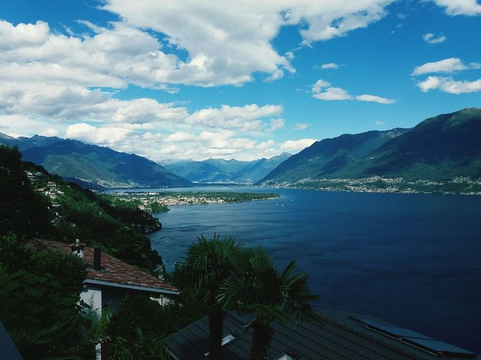 EyeEm Selects Lake Beauty In Nature No People Nature Water Sky Scenics Beauty In Nature Tranquility Travel Destinations Landscape_Collection Landscapephotography Lake Maggiore ❤️