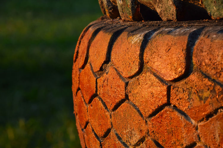 Detail shot of tire