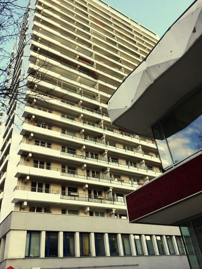 Architecture Built Structure Low Angle View Modern Residential Building