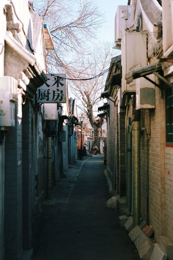 Beijing Hutong Traditional Culture China Old Street Narrow Winter Cold Old Buildings Showcase: January