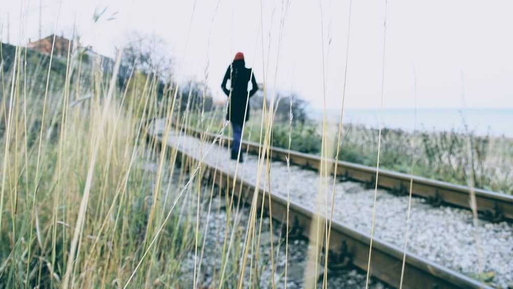 Little Red Riding Hood Black Coat Black Jacket Fashion Photography Grass Hay Model Modeling Modelling One Person Outdoors Rail Red Hat Sky Water Woman Girl EyeEmNewHere Women Around The World Long Goodbye Resist EyeEm Diversity TCPM Let's Go. Together. Breathing Space Your Ticket To Europe
