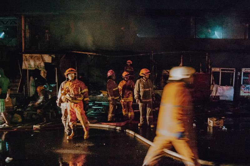 Firefighter Firefighter Night Real People Group Of People People Men Illuminated The Photojournalist - 2019 EyeEm Awards