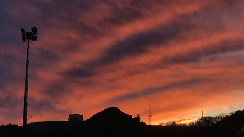 Sunset Silhouette Sky Cloud - Sky Low Angle View Nature Outdoors No People Beauty In Nature Technology Illuminated