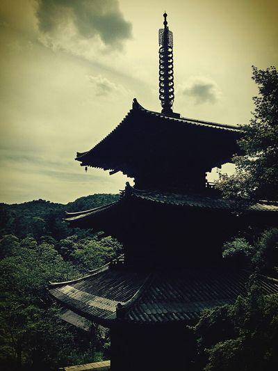Temple 一乗寺 Ultimate Japan Sunset Silhouettes 実家から近かったので行ってみたが、西国霊場の一つであることを後々知って後悔してる:(