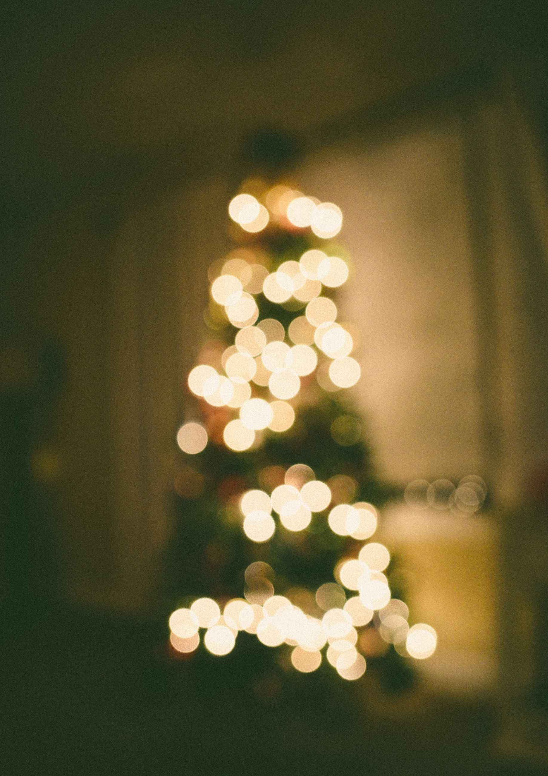 illuminated, christmas, holiday, celebration, defocused, christmas decoration, christmas lights, decoration, no people, christmas tree, night, lighting equipment, glowing, lens flare, close-up, tree, focus on foreground, geometric shape, shape, light