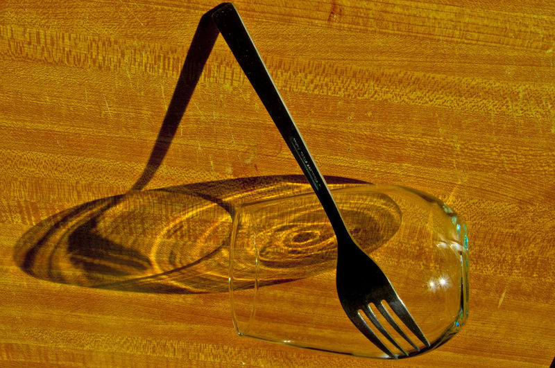 Light Patterns Table Wood - Material Household Equipment Still Life Glass Drinking Glass Shadow