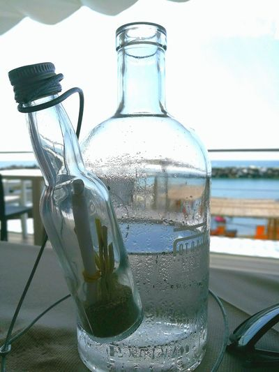 Woter Sea Botles Glass Art Bottle Collection Glass Reflection Acqua Enjoying Life Sky_collection Two Is Better Than One Bottles Collection