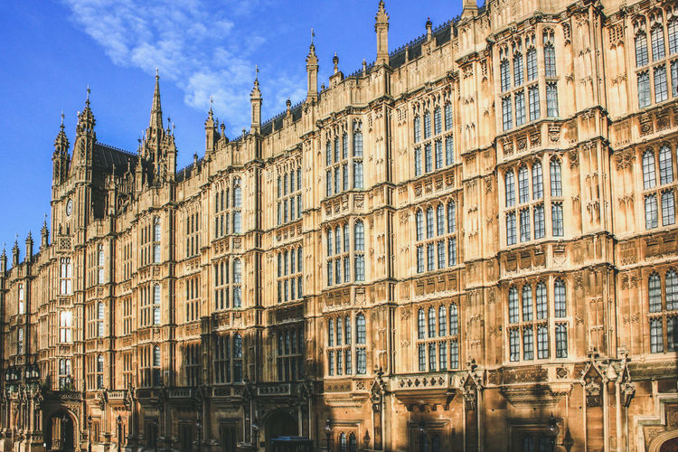 Palace of westminster against sky