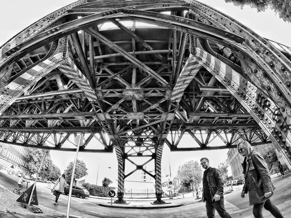Axel & Boris AxelandBoris Architecture Axelborisab Blackandwhite Bridge - Man Made Structure Built Structure Connection Engineering Leisure Activity Lifestyles Low Angle View Men Outdoors People Real People Sky Transportation Travel Travel Destinations Two People
