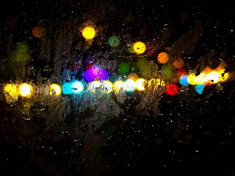 Life is a blur Rush Hour Travel Streetphotography Street Winter Moving Traffic Flash Light Lights Traffic Blurry Life Is A Blur  Drop Wet Night Water Illuminated Rain Glass - Material Window Transportation RainDrop Multi Colored Outdoors Light Rainy Season Backgrounds Transparent Capture Tomorrow