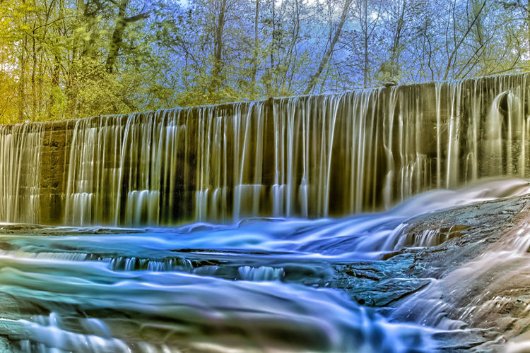 Ivy Creek Waterfall Beauty In Nature Blurred Motion Day Flowing Flowing Water Forest Fountain Long Exposure Motion Nature No People Outdoors River Scenics Splashing Tranquility Tree Water Waterfall Waterfront