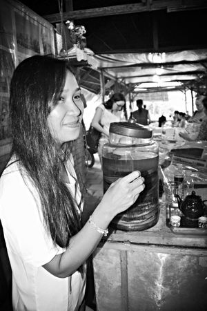 RePicture Travel Sister ❤ is about to take a sip of Snake Wine