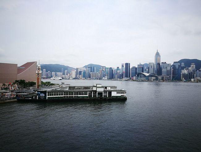 Tsim Sha Tsui Tsim Sha Tsui Clock Tower Vitoria Harbour Sea View Star Ferry Pier Ferry Pier Cloudy HongKong City Harbor