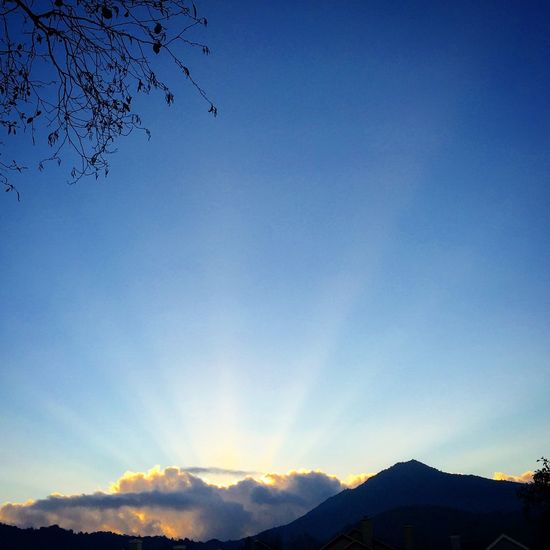 Light Rays Sunset Mt Tam Learn & Shoot: Balancing Elements Landscapes With WhiteWall