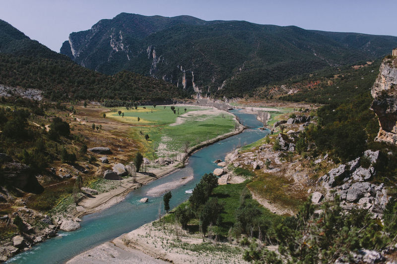 EyeEm Nature Lover SPAIN Beauty In Nature Congost De Montrebei Congostdemontrebei Day Golf Course Landscape Mountain Mountain Range Nature No People Outdoors River Scenics Sky Tranquil Scene Tranquility Tree Water
