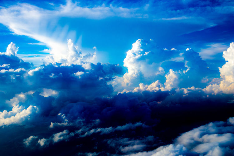 Tadaa Community Hello World Japan Astronomy Space Mountain Planet Earth Blue Power In Nature UnderSea Sea Water Sky Sky Only Cloudscape Fluffy