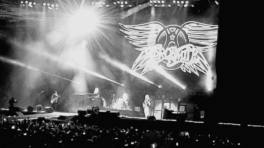 Sweet Emotion Lens Flare AEROSMITH❤ Hard Rock Rock N' Roll  Monochrome Photography Eyeem Photography Monochrome Black & White From Where I Stand Bnw Concert Lights Rock N' Roll  Night Photography Famous Place Illuminated Night From My Point Of View Lightplay Shadows & Lights Concert Photography Concert Lighting Black And White Friday